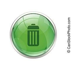 Botón de batería verde