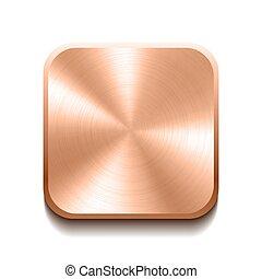 Botón de bronce realista