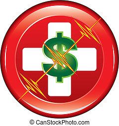 Botón de costo médico de primeros auxilios