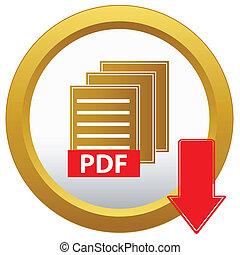 Botón de descarga de la PDF Vector