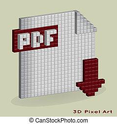 Botón de descarga de la PDF Vector. Pixel A