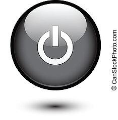 Botón de energía negro