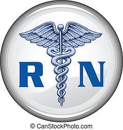 Botón de enfermera registrado