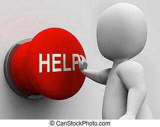 botón de la ayuda, ayuda, ayuda, apoyo, exposiciones