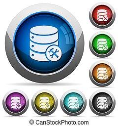 Botón de mantenimiento de la base de datos
