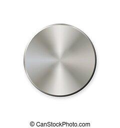 Botón de metal realista