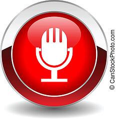 Botón de micrófono vector
