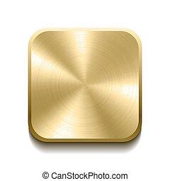 Botón de oro realista