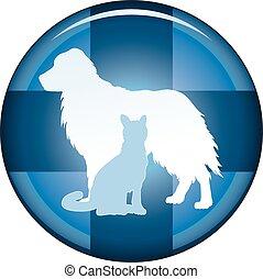 Botón de símbolo médico veterinario