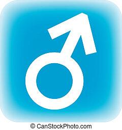 Botón de símbolo masculino