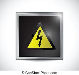 Botón de señal de peligro de electricidad