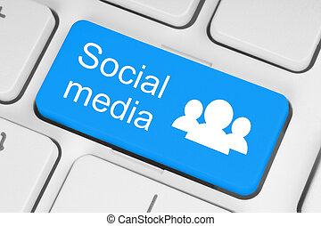 Botón de teclado de las redes sociales