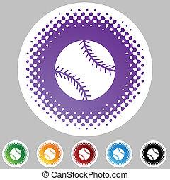 Botón de telaraña de béisbol aislado en un fondo