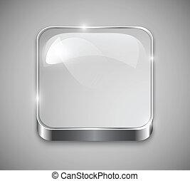 Botón de vidrio