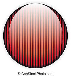 Botón de vidrio rojo