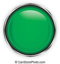 Botón de vidrio verde