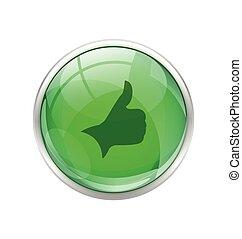 Botón derecho verde