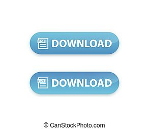 botón, descargue, pdf