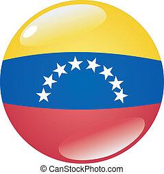 Botón en colores de Venezuela
