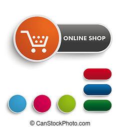 Botón en línea naranja negra