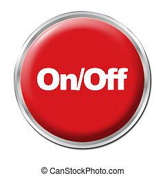botón, en/lejos