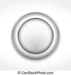 Botón gris redondo