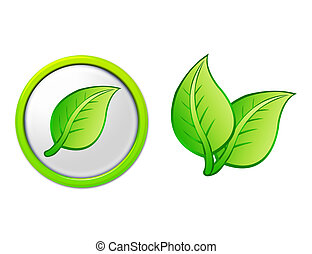 botón, hoja, leafs