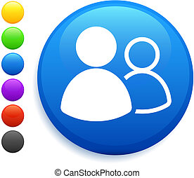 botón, icono, redondo, grupo, usuario, internet