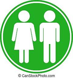 Botón masculino y femenino