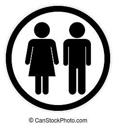 Botón masculino y femenino.