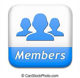 botón, miembros