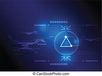 Botón moderno y diseño tecnológico
