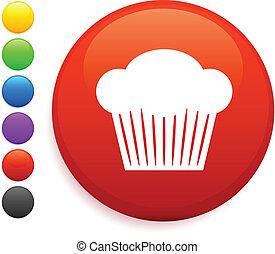 botón, mollete, icono, redondo, internet