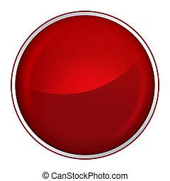 botón, rojo