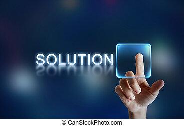 botón, solución