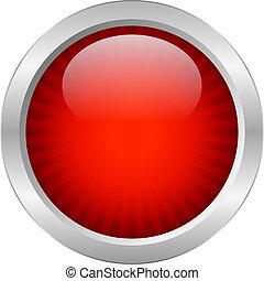 Botón vector rojo