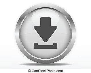 Botón web de descarga gris