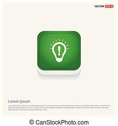 Botón web verde de foco