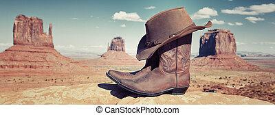 Botas panorámicas y sombrero