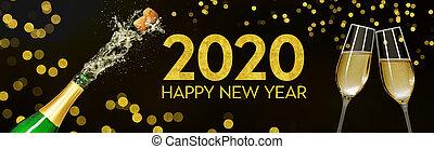 botella, anteojos de champán, 2020