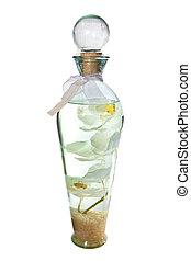 Botella con la flor