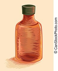 Botella de medicina vacía