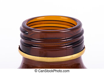 Botella médica marrón