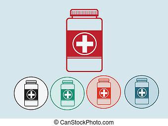 Botella medicinal