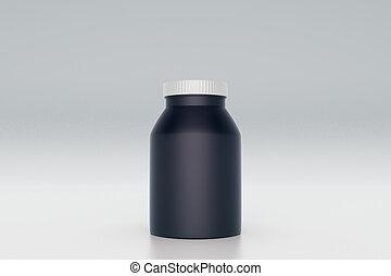Botella negra vacía