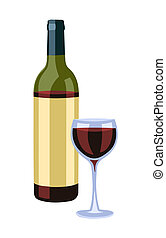 Botella y vino