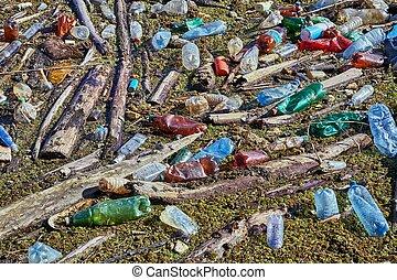 botellas, agua, plástico