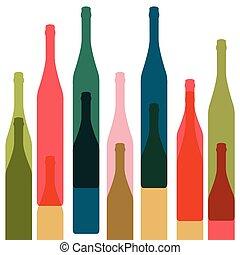 Botellas color vector