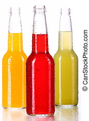Botellas con coctel colorido