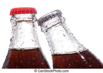 Botellas con cola